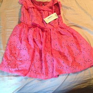 NWT osh kosh girls 5t pink frilly dress